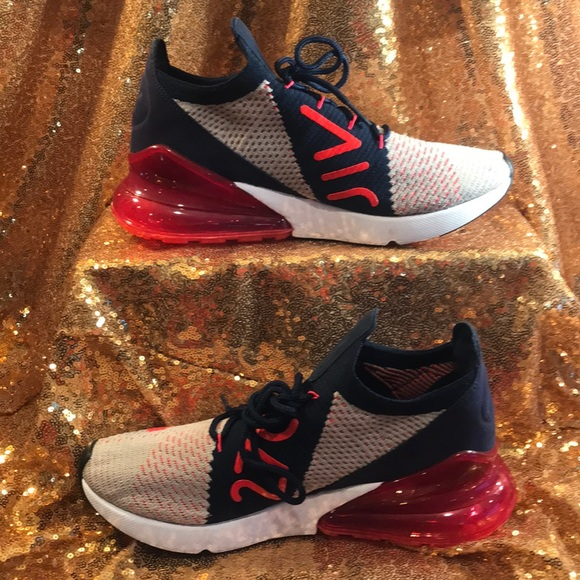 Nike AIR MAX 270 Flyknit Women's (6, Moon ParticleRed